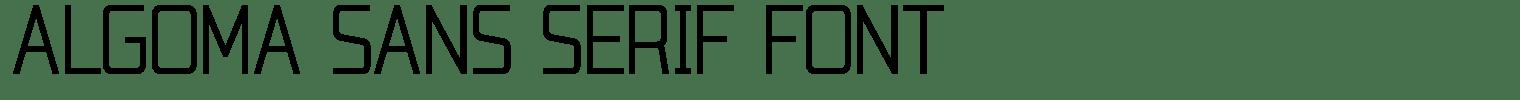 Algoma Sans Serif Font
