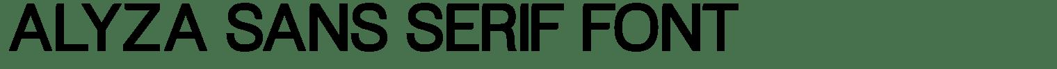 Alyza Sans Serif Font