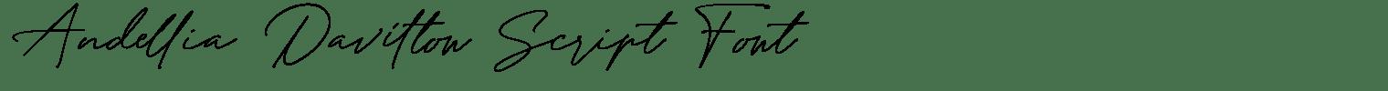 Andellia Davilton Script Font