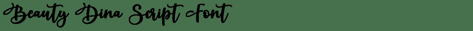 Beauty Dina Script Font
