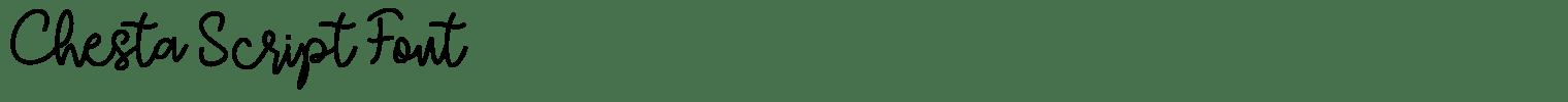 Chesta Script Font