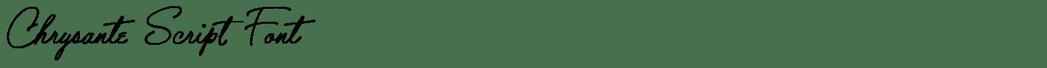 Chrysante Script Font