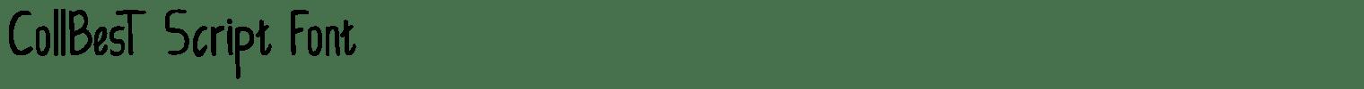 CollBesT Script Font