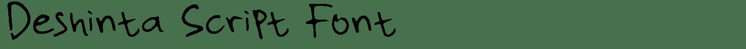 Deshinta Script Font