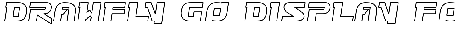 Drawfly Go Display Font