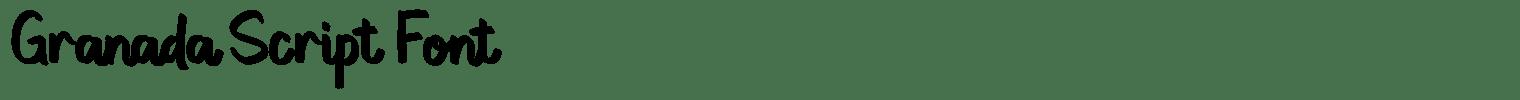 Granada Script Font