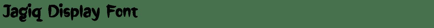 Jagiq Display Font