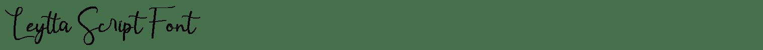 Leytta Script Font