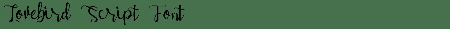 Lovebird Script Font