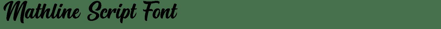 Mathline Script Font