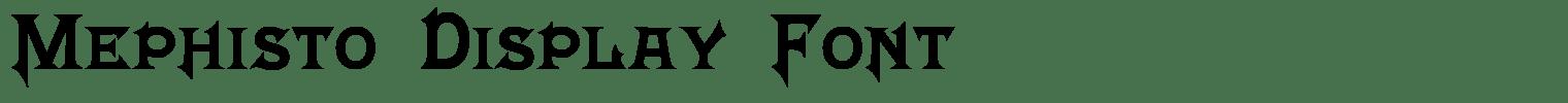 Mephisto Display Font