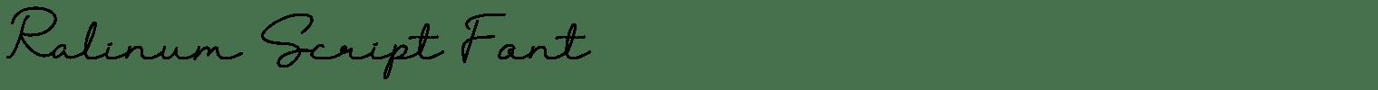 Ralinum Script Font