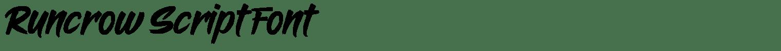 Runcrow Script Font