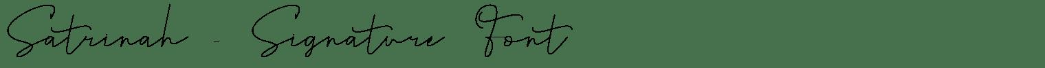 Satrinah – Signature Font