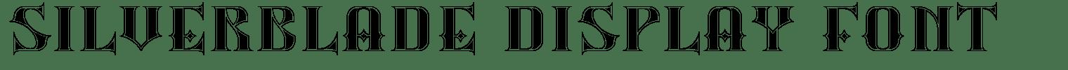 Silverblade Display Font