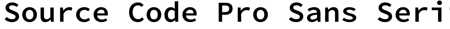 Source Code Pro Sans Serif Font