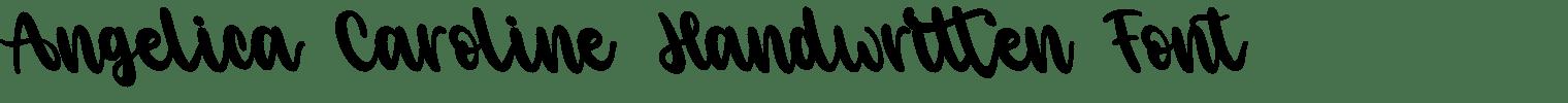 Angelica Caroline Handwritten Font