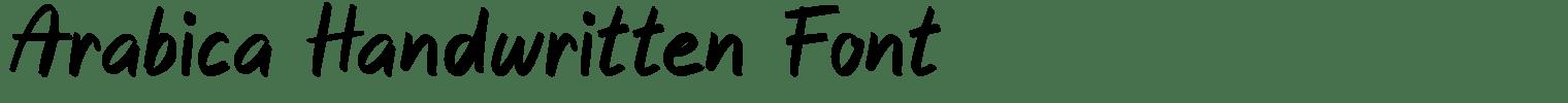 Arabica Handwritten Font