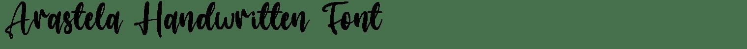 Arastela Handwritten Font
