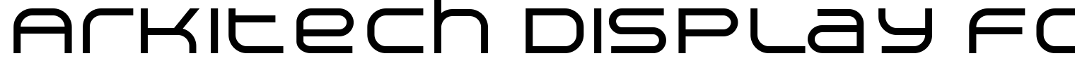 Arkitech Display Font