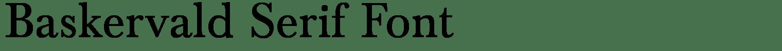 Baskervald Serif Font