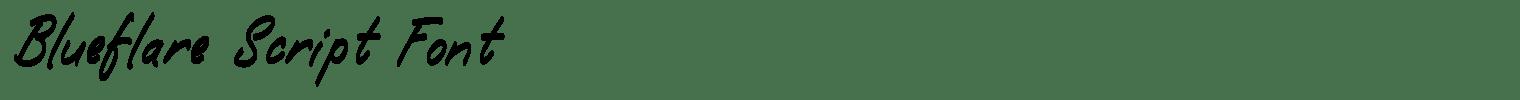 Blueflare Script Font