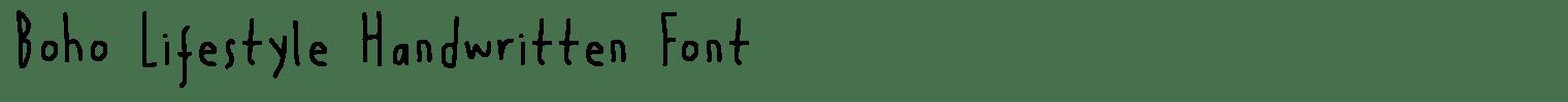 Boho Lifestyle Handwritten Font