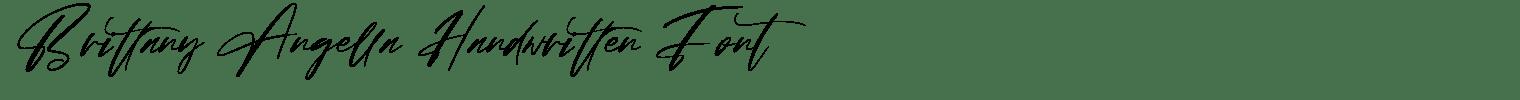 Brittany Angella Handwritten Font