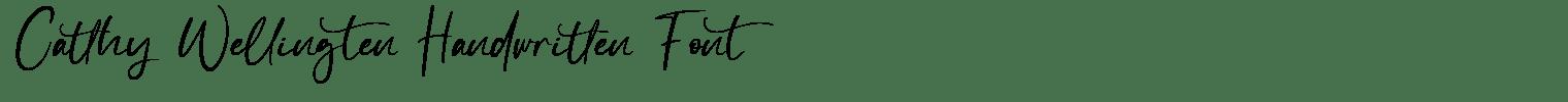 Catthy Wellingten Handwritten Font