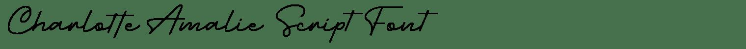 Charlotte Amalie Script Font