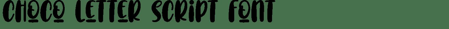 Choco Letter Script Font
