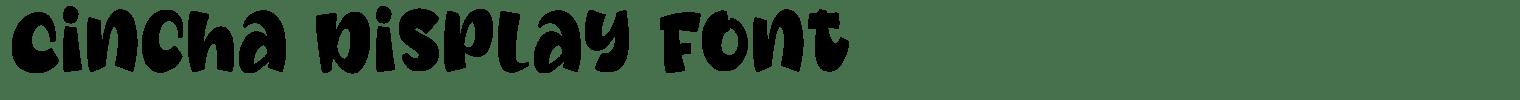 Cincha Display Font