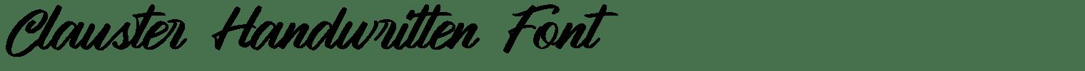 Clauster Handwritten Font
