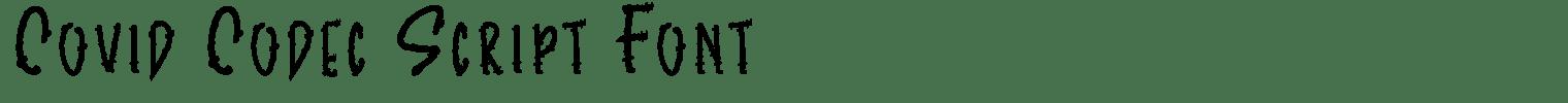 Covid Codec Script Font