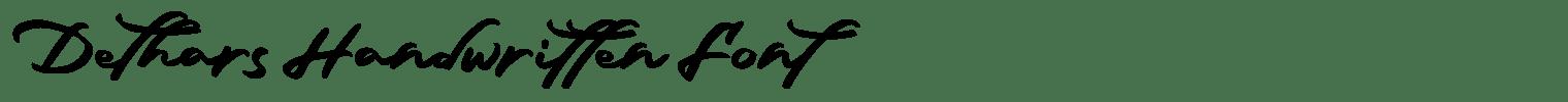 Dethars Handwritten Font