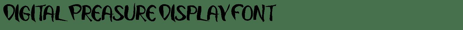 Digital Preasure Display Font