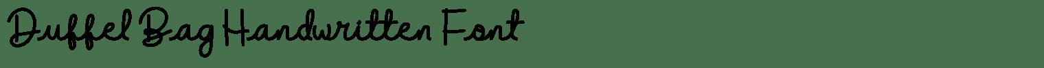 Duffel Bag Handwritten Font