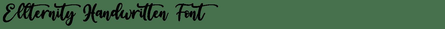 Ellternity Handwritten Font