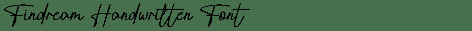 Findream Handwritten Font