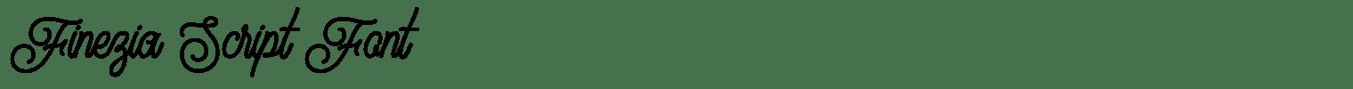 Finezia Script Font