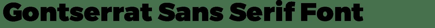 Gontserrat Sans Serif Font