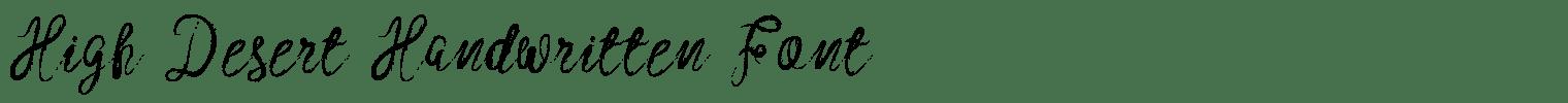 High Desert Handwritten Font