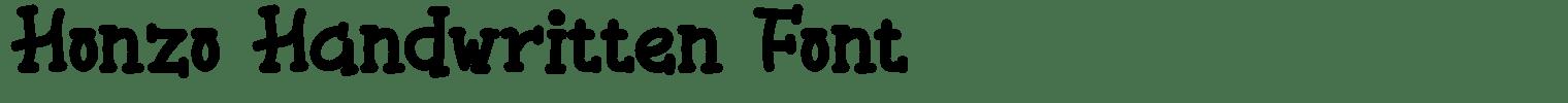 Honzo Handwritten Font