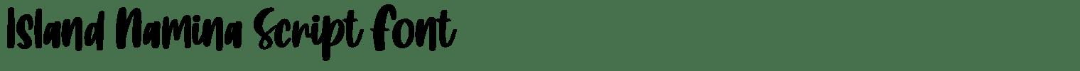 Island Namina Script Font