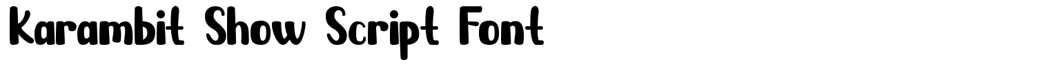 Karambit Show Script Font