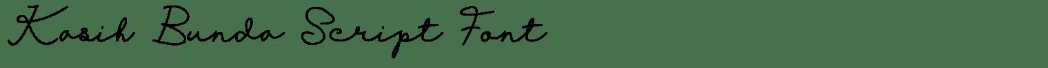 Kasih Bunda Script Font