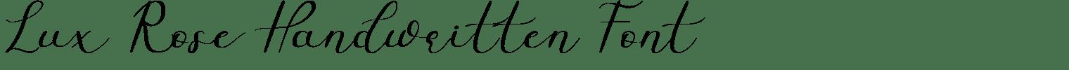 Lux Rose Handwritten Font