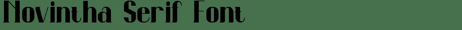 Novintha Serif Font