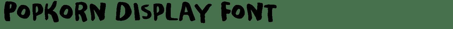 Popkorn Display Font