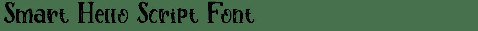 Smart Hello Script Font
